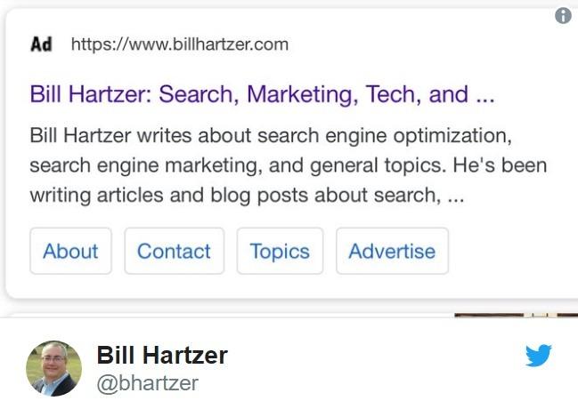 Пост Билла Харцера про фавиконы в Google