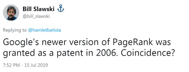SEO-консультант Bill Slawski подтверждает неиспользование алгоритма PageRank